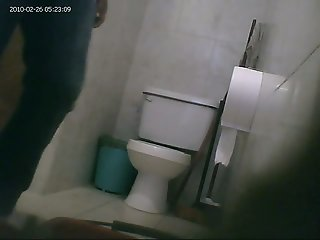 Hidden toilet cam catches..