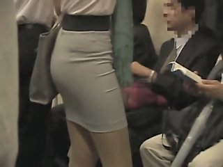 Candid upskirt of the young..