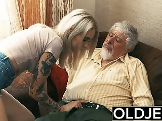 Old and Young Teen Blonde..