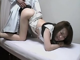 Spy cam films a cute Asian..
